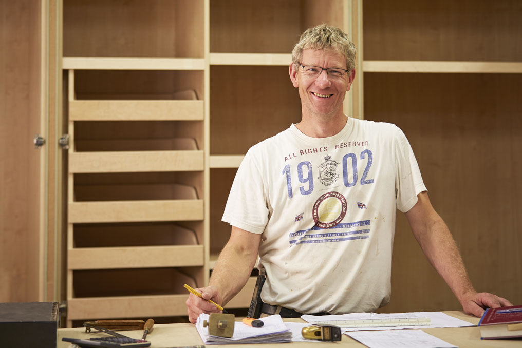 Geoff Barry, Kew Joinery Managing director in workshop